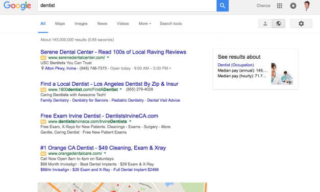 Google Adwords No Longer Appear in Sidebar